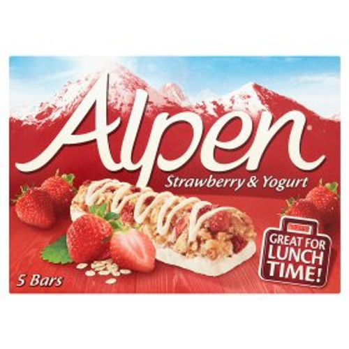 Alpen Strawberry & Yogurt Cereal Bars 5x29g