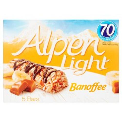 Alpen Light Banoffee Cereal Bars 5x19g