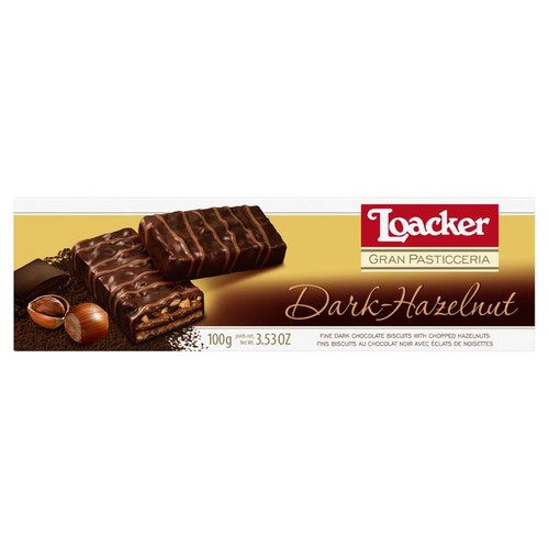 Loacker Dark Chocolate Hazelnut Biscuits 100g