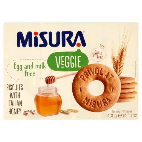 Misura Delight Milk & Egg Free Biscuits with Honey 400g