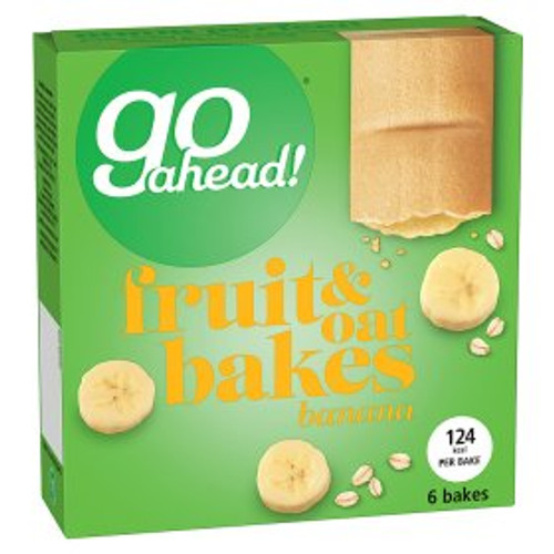 Go Ahead! Fruit & Oat Bakes Banana 6x35g