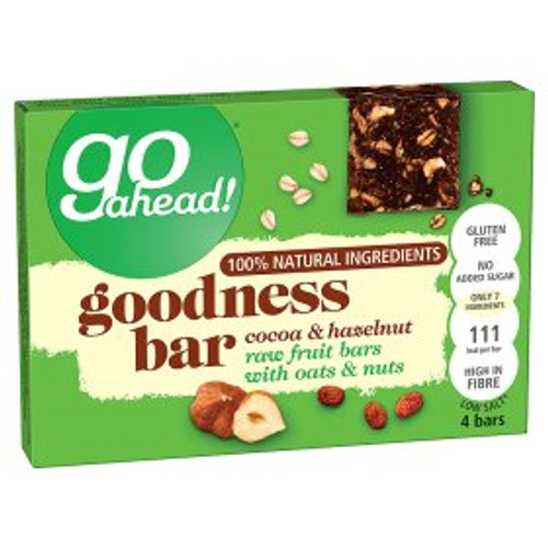 Go Ahead! Goodness Bar Cocoa & Hazelnut 4x30g