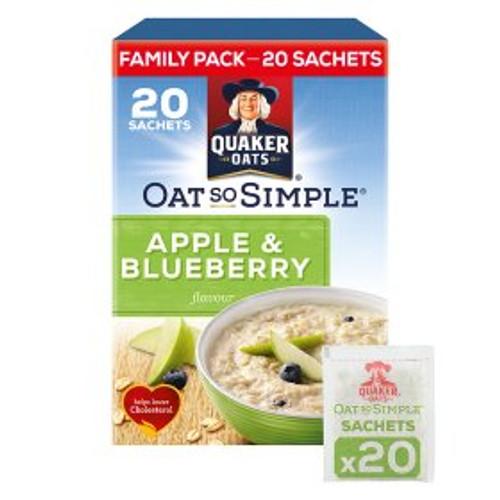 Quaker Oat So Simple Apple & Blueberry Porridge 20x36g