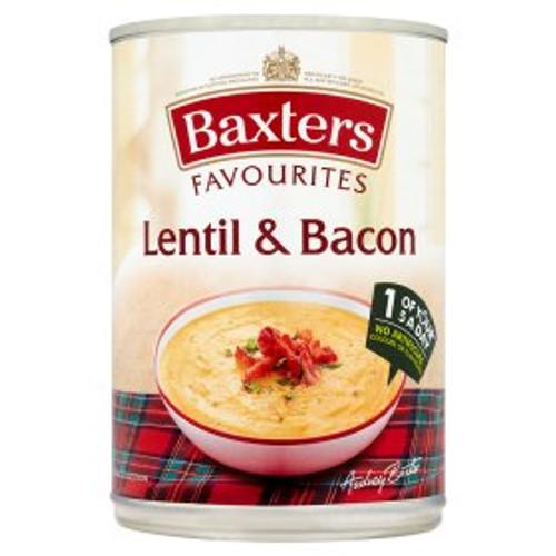 Baxters Favourites Lentil & Bacon Soup 400g
