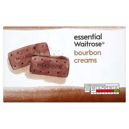 Essential Waitrose Bourbon Creams Biscuits 400g