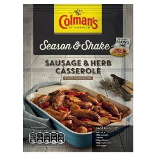 Colman's Season & Shake Sausage & Herb Casserole Seasoning Mix 40g