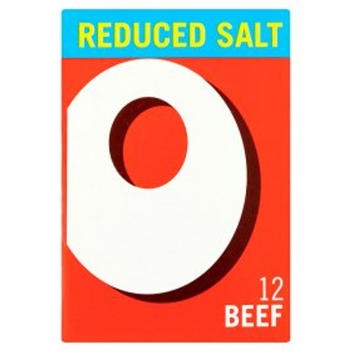 Oxo Reduced Salt Beef Stock Cubes 12x6g