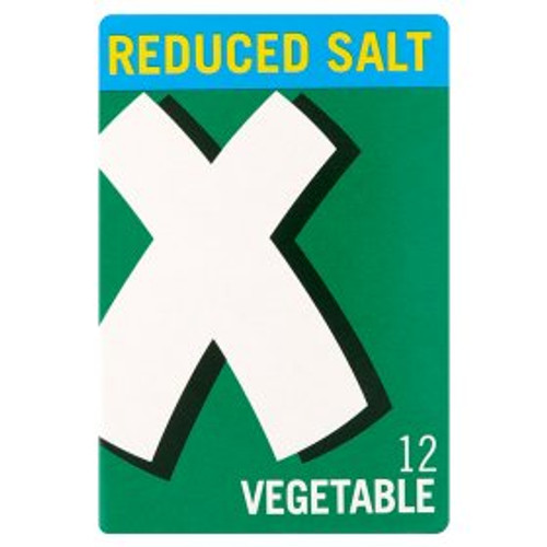Oxo Reduced Salt Vegetable Stock Cubes 12x6g