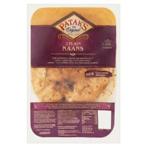 Patak's The Original 2 Plain Naans 2pk