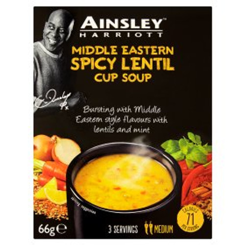 Ainsley Harriott Middle Eastern Spicy Lentil Cup Soup 66g