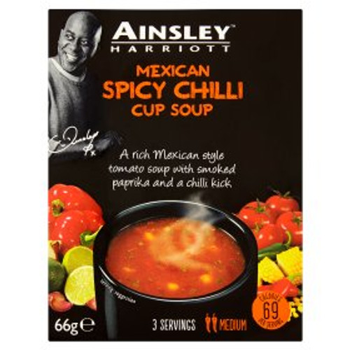 Ainsley Harriott Mexican Spicy Chilli Cup Soup 66g