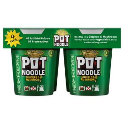 Pot Noodle Chicken & Mushroom 4x90g