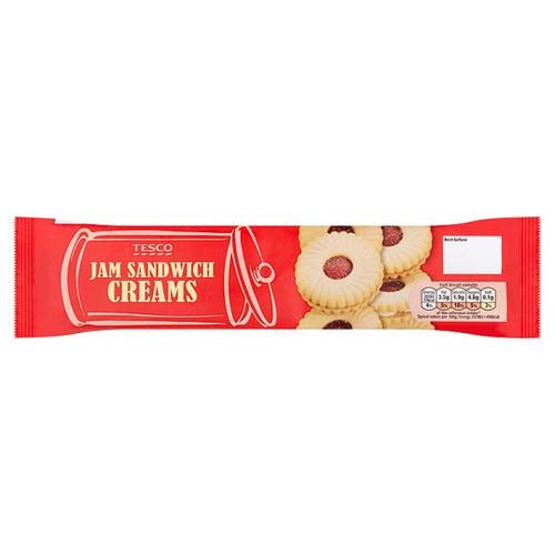 Tesco Jam Sandwich Creams Biscuit 150G