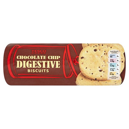 Tesco Chocolate Chip Digestive Biscuits 400G