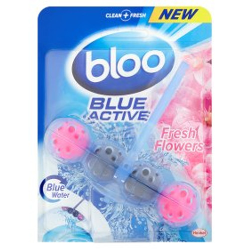 Bloo Blue Active Fresh Flowers Toilet Rim Block
