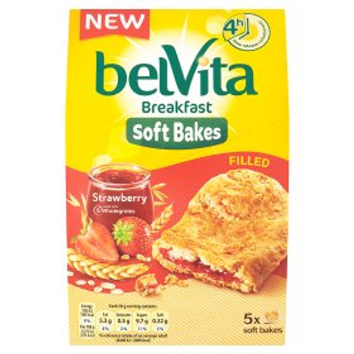 Belvita Breakfast Biscuits Soft Bakes Filled Strawberry