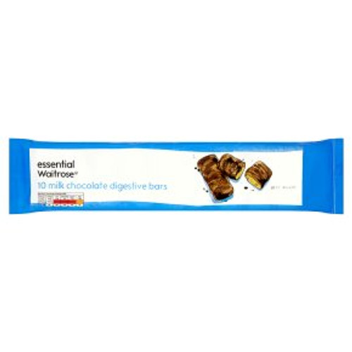 Essential Waitrose Milk Chocolate Digestive Bars
