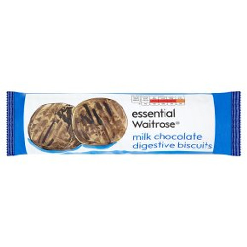 Essential Waitrose Milk Chocolate Digestive Biscuits 400g