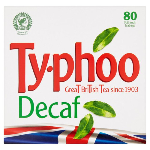Typhoo Decaf Tea Bags 80 per pack