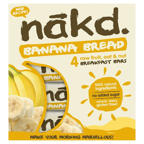 Nakd Wheat & Dairy Free Banana Bread Multipack 4 x 30g