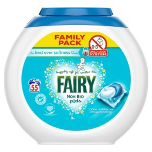 Fairy Non Bio Pods Washing Capsules Sensitive Skin 55 Washes
