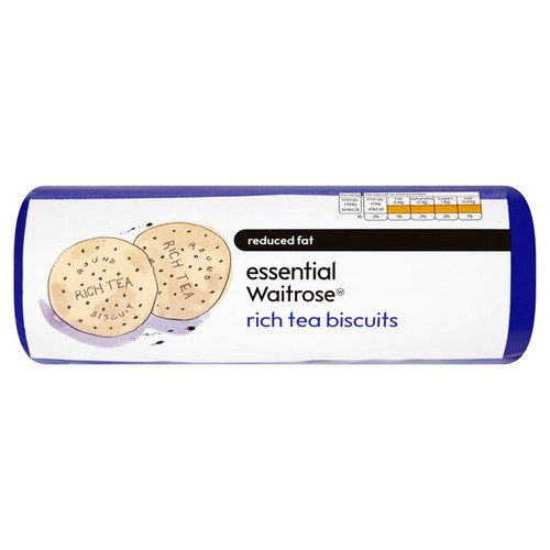 Essential Waitrose Low Fat Rich Tea Biscuits 300g