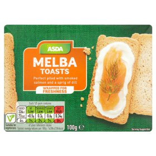 ASDA Chosen By You Melba Toasts 100g