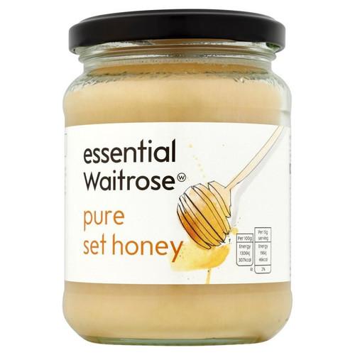 Essential Waitrose Pure Set Honey 454g