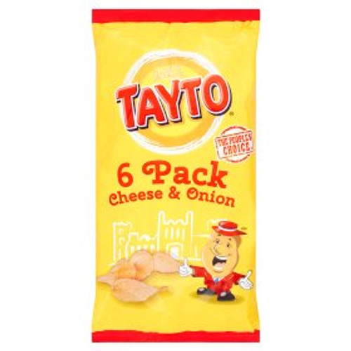Tayto Cheese and Onion Crisps Multipack 6 x 25g