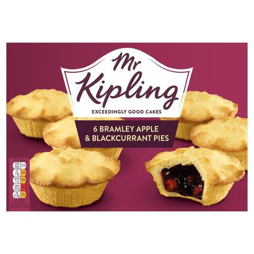 Mr Kipling 6 Bramley Apple and Blackcurrant Pies