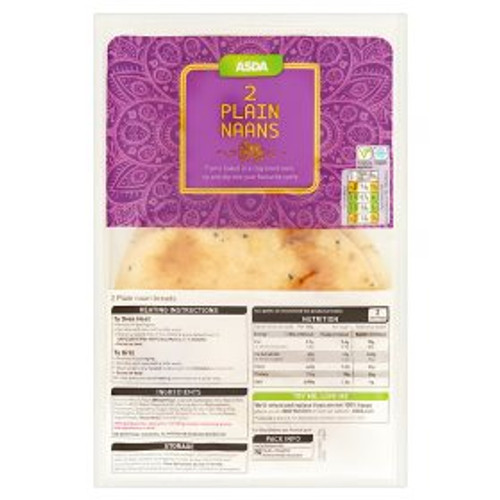 ASDA 2 Plain Naans