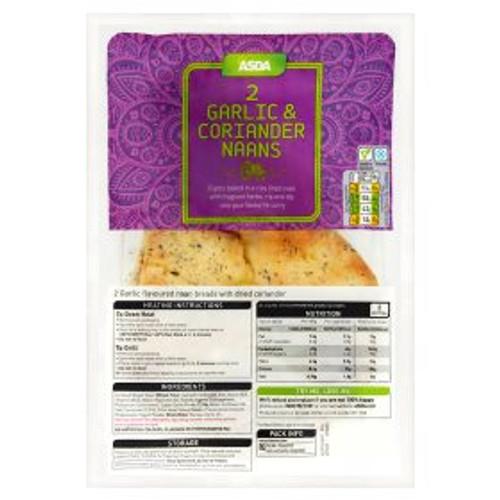 ASDA 2 Garlic & Coriander Naans 2pk