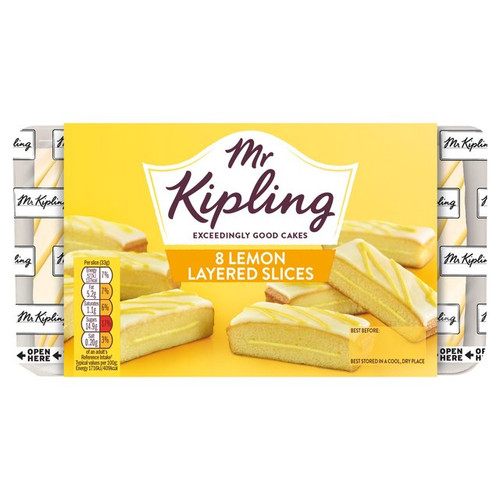 Mr Kipling Lemon Slices 8 Per Pack