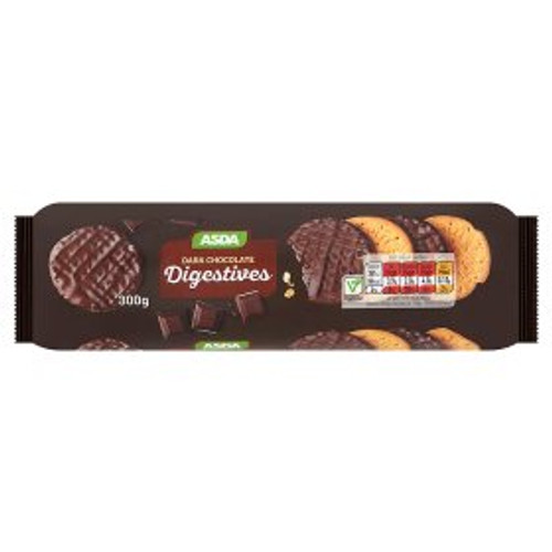 ASDA Dark Chocolate Digestives 300g