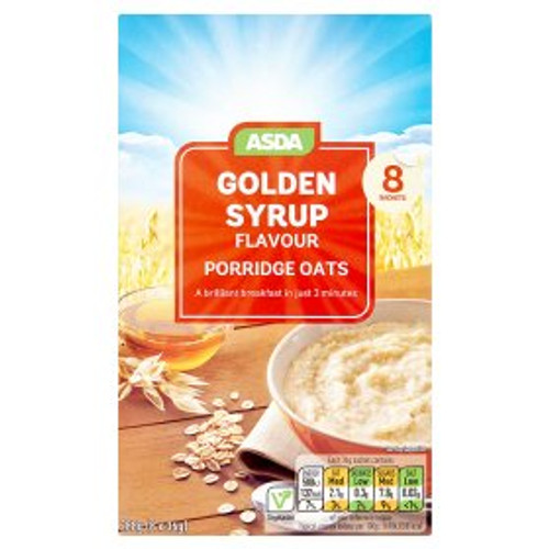 ASDA Golden Syrup Porridge 8x36g