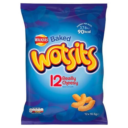Walkers Wotsits Cheesy Corn Puffs 12 Pack