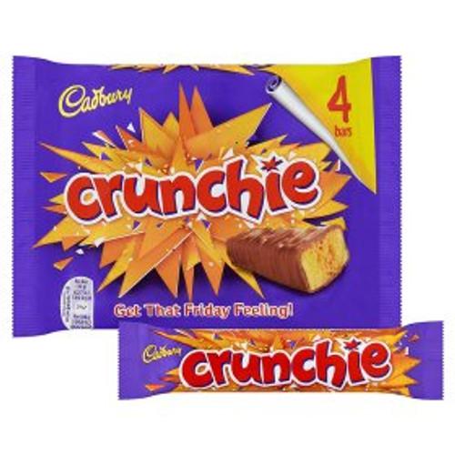 Cadbury Crunchie Chocolate Bar 4 Pack 4x32g