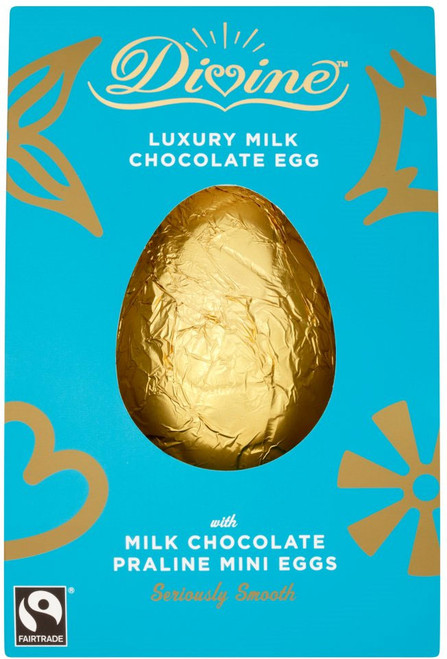 Divine Milk Chocolate Egg with Praline Mini Easter Egg 260g