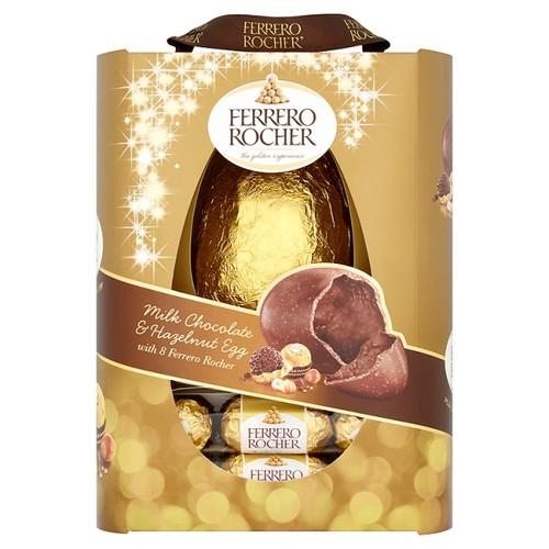 Ferrero Rocher Milk Chocolate & Hazelnut Egg with 8 Ferrero Rocher 275g