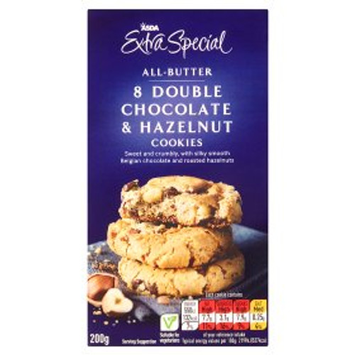 ASDA Extra Special Belgian Double Chocolate & Hazelnut Cookies 200g
