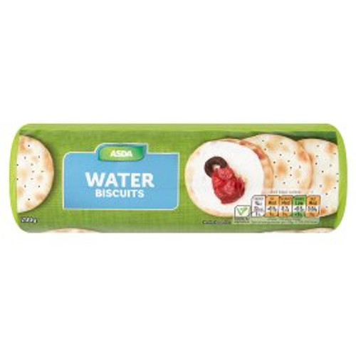 ASDA Chosen By You Water Biscuits 200g
