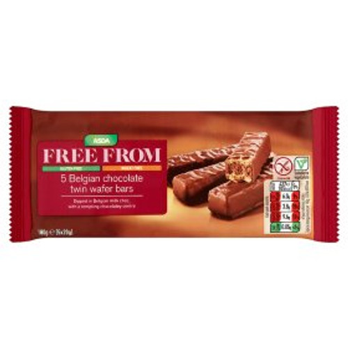 ASDA Free From Belgian Choc Twin Wafer Bars 5x20g