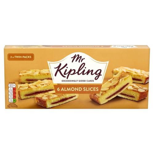 Mr Kipling 6 Almond Slices