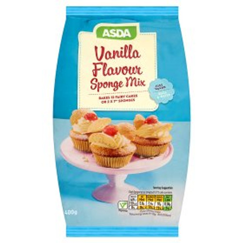 ASDA Vanilla Flavour Sponge Mix 400g