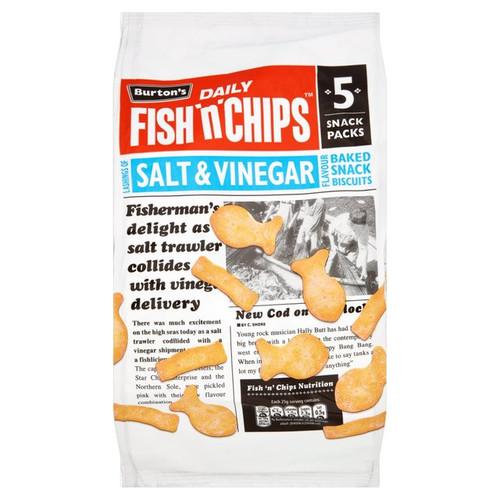 Burtons Fish n Chips Salt and Vinegar 6 x 25g
