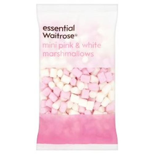 Essential Waitrose Mini Pink & White Marshmallows 150g