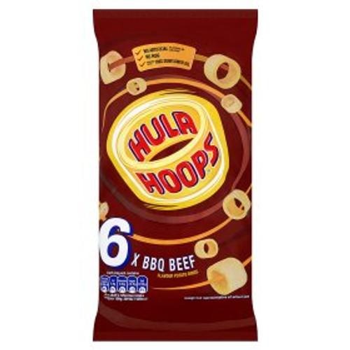 Hula Hoops BBQ Beef 6 x24g Pack