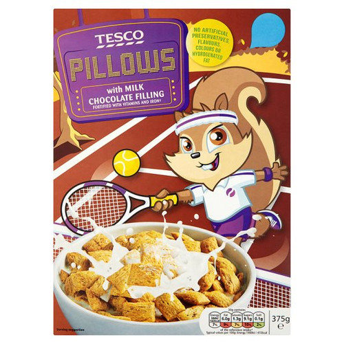 Tesco Pillows With Milk Chocolate Filling 375G