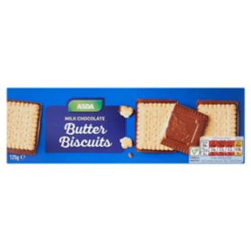 ASDA Milk Chocolate Butter Biscuits 125g