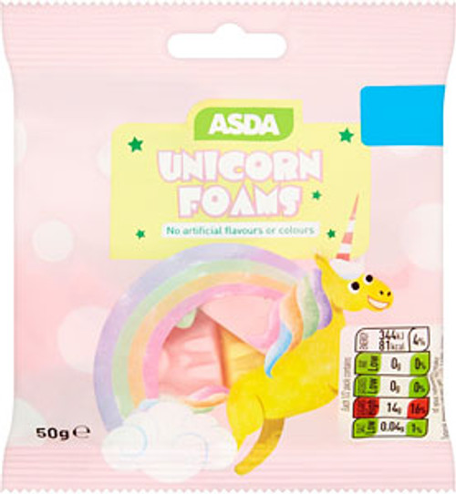 ASDA Unicorn Foams 50g